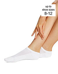 Hanes Women's Low Cut Cushion Socks, Fits shoe sizes up to 8-12, 6-Pack