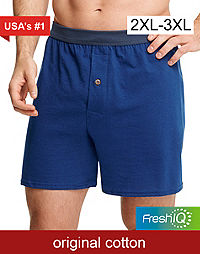 Hanes Men's TAGLESS® ComfortSoft® Knit Boxers with ComfortSoft® Waistband 2X 5-Pack