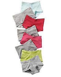 Hanes Girls' Cotton Boy Short Panties 8-Pack