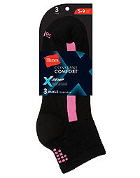 Hanes Women's Constant Comfort™ X-Temp® Ankle Socks 3-Pack