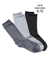 Hanes ComfortSoft® Women's Crew Socks, Fits shoe sizes up to 8-12, 3-Pack