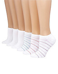 Hanes Women's ComfortBlend® No-Show Socks 6-Pack