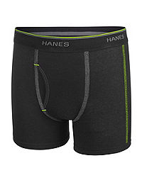 Hanes Boys' Sport Style Dyed Boxer Brief with Comfort Flex® Waistband 5-Pack