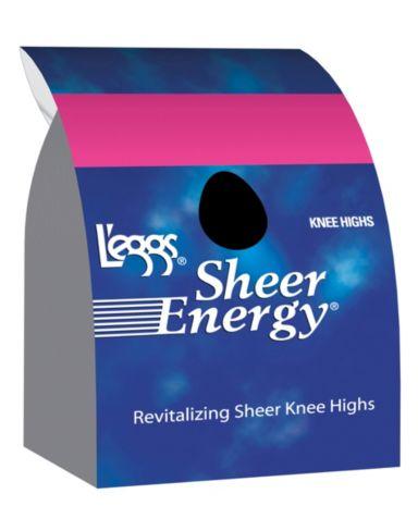 L'eggs  Sheer Energy Knee Highs, Sheer Toe 5-Pack