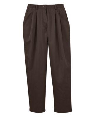 JMS Pleat Front Twill Pants, Petite