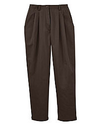 JMS Pleat Front Twill Pants, Petite