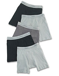 Hanes Boys' Dyed Boxer Brief 5-Pack