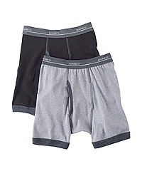 Hanes Boy's Ringer Boxer Briefs 5-Pack