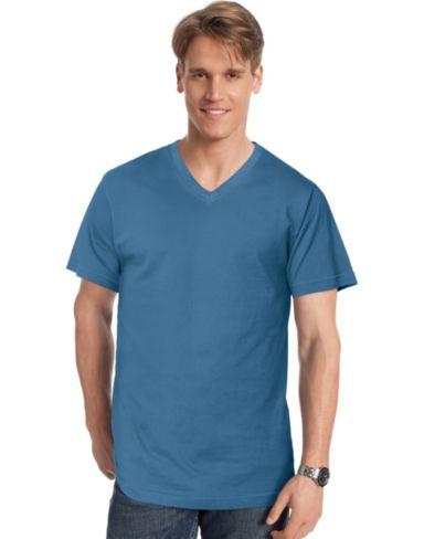 Hanes Signature® Men's Ultimate Cotton V-Neck T-Shirt