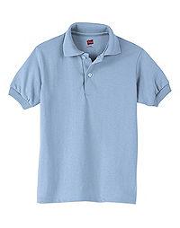 Hanes Kids' Cotton-Blend EcoSmart® Jersey Polo