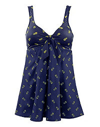 Pineapple Tie Front Swimdress