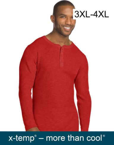 Hanes Men's X-Temp™ Thermal Henley 3X-4X
