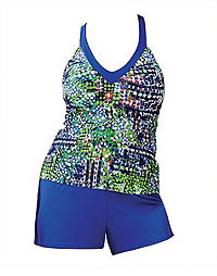 Two-Piece Sports Top with Shorts — Cobalt