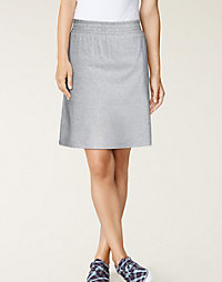 Hanes Signature® Stretch Cotton Skirt