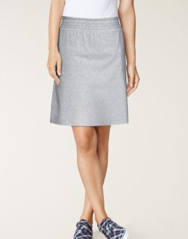 Hanes Signature® Stretch Cotton Skirt