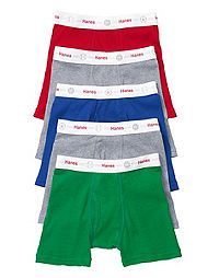 Boys' Boxer Briefs Underwear, TAGLESS, Dyed, Printed and more | Hanes