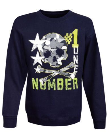 Hanes Boys' ComfortBlend® EcoSmart® Camo Crewneck Sweatshirt