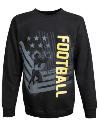 Hanes Boys' ComfortBlend® EcoSmart® Football Crewneck Sweatshirt
