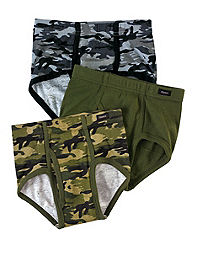 Boys' Hanes Ultimate Brief with ComfortSoft® Waistband Assorted 3-Pack