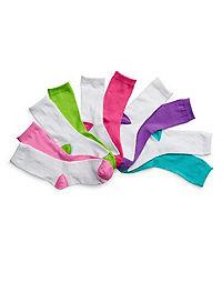 Hanes Girls' Crew EZ Sort® Socks Assorted 10-Pack