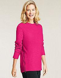 Hanes Signature® French Terry Slanted Zipper Sweatshirt