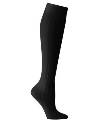 Just My Style® Fancy Rib Trouser Socks