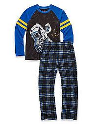 Hanes Boys' Sleepwear 2-Piece Set, Astronaut Print