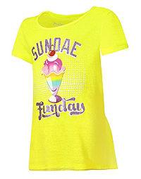 Hanes Girls' Sundae Funday Graphic Peplum Tee