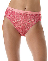 Hanes Women's Lace Effects Hi-Cut Panties 6-Pack