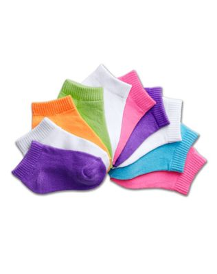 Hanes Girls' Toddler Low-Cut EZ Sort® Assorted 10-Pack