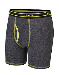 Hanes X-Temp® Boys' Long Leg Boxer Brief with Comfort Flex® Waistband 4-Pack