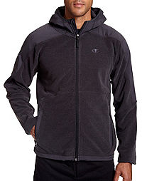 Champion Men's Big Textured Fleece Hoodie With Water Repellent Overlay
