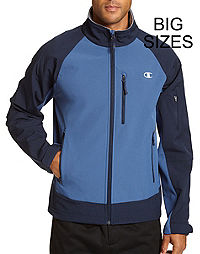 Champion Men's Big Soft Shell Jacket With Textured Backing