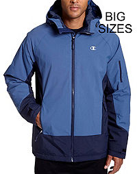 Champion Men's Big Technical Ripstop Ski Jacket with Synthetic Down