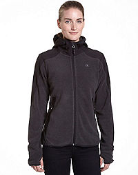 Champion Women's Textured Fleece Jacket With Water Repellent Overlay