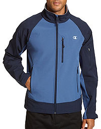 Champion Men's Soft Shell Jacket With Textured Backing