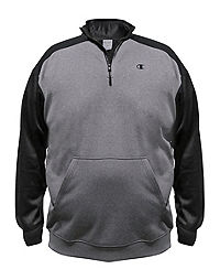 Champion Big & Tall Performance Pieced 1/4 Zip