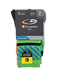 C9 Champion® Boys' Reflective Crew Socks 2-Pack