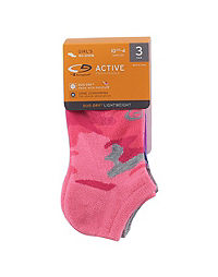 C9 Champion® Girls' No-Show Socks 3-Pack