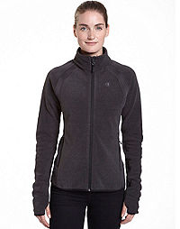 Champion Women's Plus Textured Microfleece Fleece Jacket