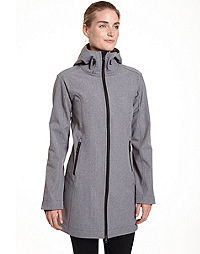 Champion Women's Plus Hooded Soft Shell Jacket With Luxe Fleece Lining