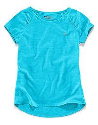 Champion Little Girls' Short-Sleeve Heather Raglan Tee
