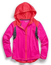 Champion Girl's Colorblock Hi-Lo Full-Zip Jacket