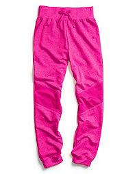 Champion Girl's Mesh Overlay Cuff Pants