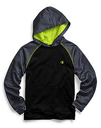 Champion Tech Fleece Boys' Printed Pullover Hoodie