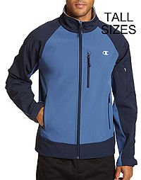 Champion Men's Tall Soft Shell Jacket With Textured Backing