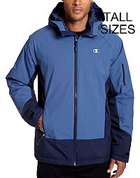 Champion Men's Tall Technical Ripstop Ski Jacket with Synthetic Down