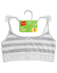 Hanes Girls' Cotton Pullover Bra 2-Pack