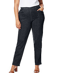 Just My Size By Hanes 2-Pocket Flat-Front Jeans, Average Length