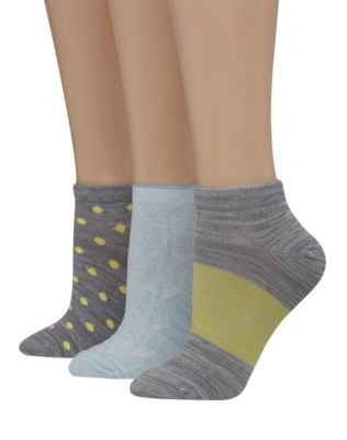 Hanes Women's Assorted Giftable Low Cut Socks 3-Pack